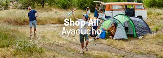 A family camping and kiting wearing Ayacucho gear.