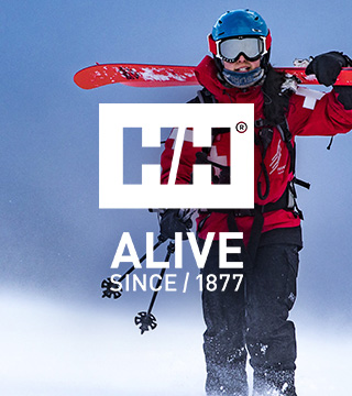 People going skiing with Helly Hansen gear.