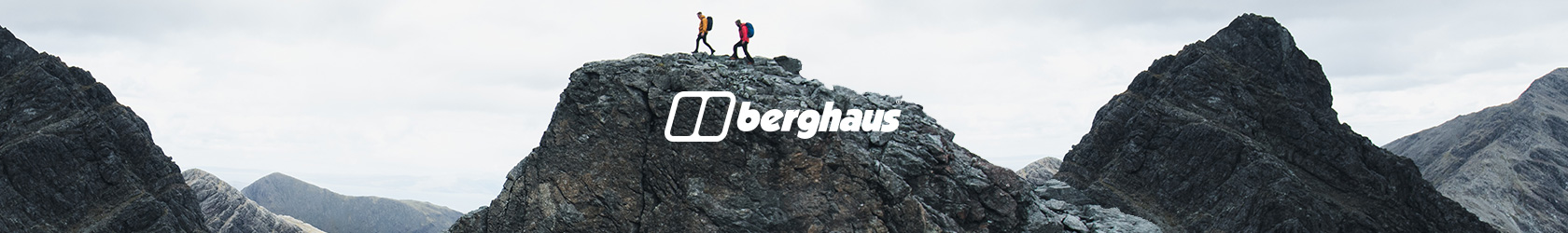 People are walking on top of the hill, wearing Berghaus gear.