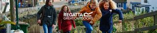 Family walking wearing Regatta gear.