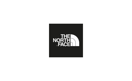 The North Face brand logo