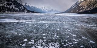Frozen Spray Lakes by Sean Bryne