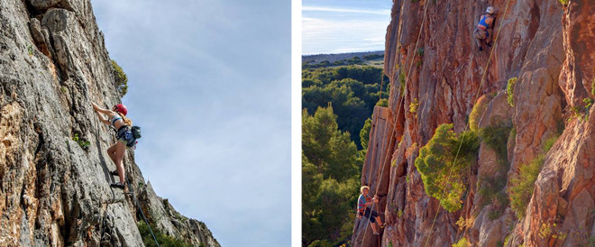 Two Rock Climbing Pictures