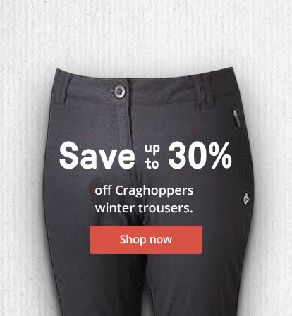 Save up to 30% off Craghoppers winter trousers