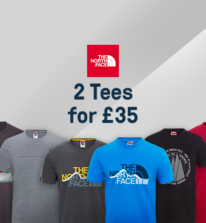 2 The North Face t-shirts for £35