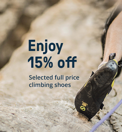 Save 15% off Selected Climbing Shoes