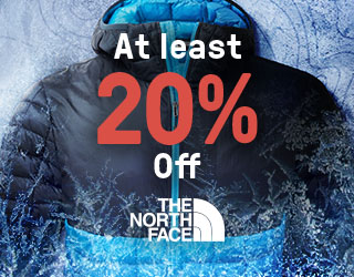 At least 20% off all of the North Face