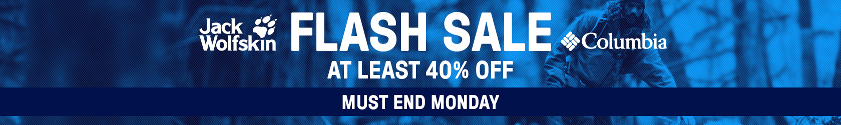 Flash sale - Jack Wolfskin and Columbia