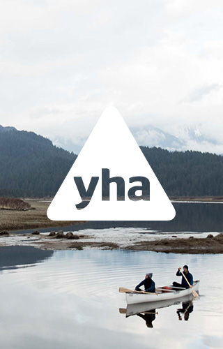The YHA- Person on top of mountain ridge