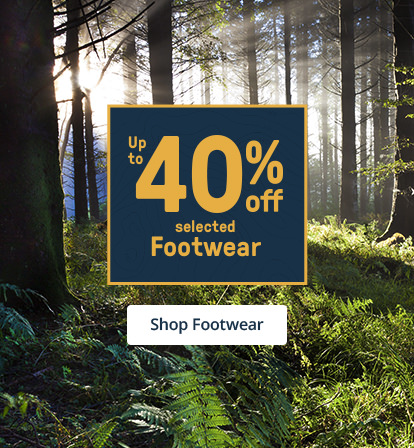 Up to 40% off selected Footwear