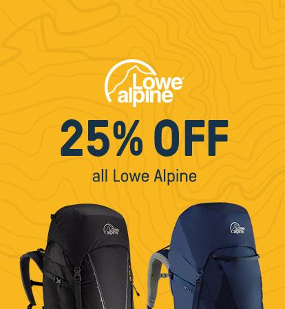 25% off Lowe Alpine