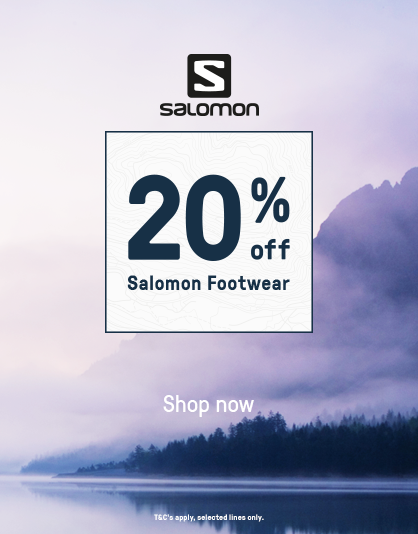 20% off Salomon Footwear
