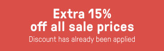 Extra 15% added to all sale prices